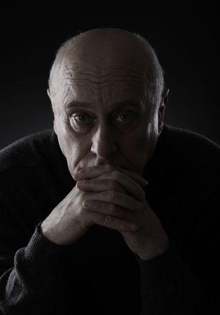 Triste hombre senior Foto de archivo