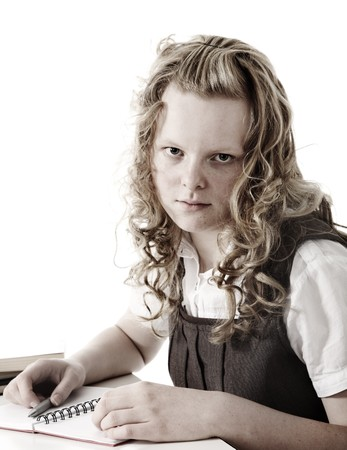 Vintage schoolgirl Stock Photo - 7338308