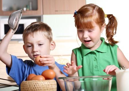 Children cooking  photo