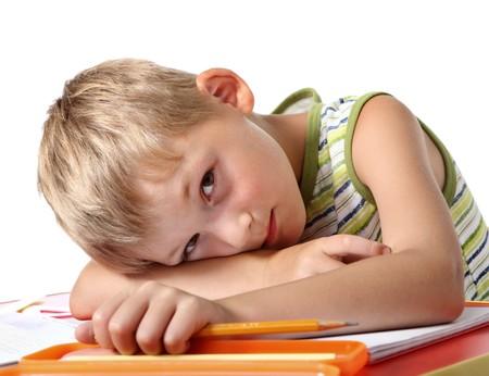 Colegial poco cansado