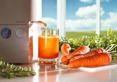 Jus de carottes frais