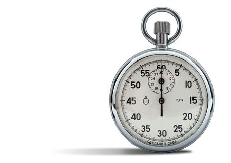 starting a business: analog stop watch