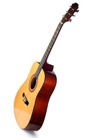Guitar, on a white background photo