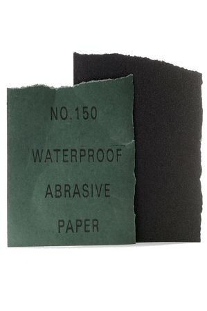 abrasive: Abrasive paper, isolated on white background.