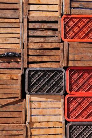 Old wood boxes, Morocco photo