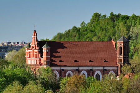 oldtown: St  Bernardin churches in Vilnius, Lithuania, Spring time  Stock Photo