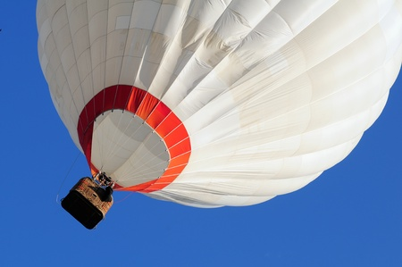 Hot air balloon and blue sky photo
