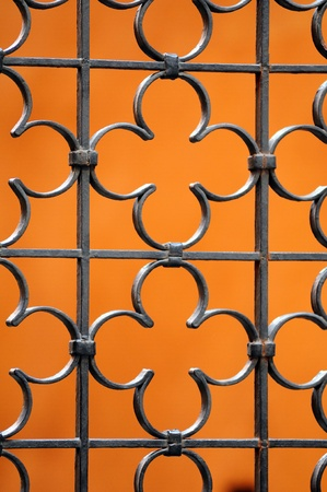 wrought: Metal fence Stock Photo