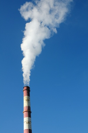 Smoking stack of thermal power station Stock Photo - 13684398