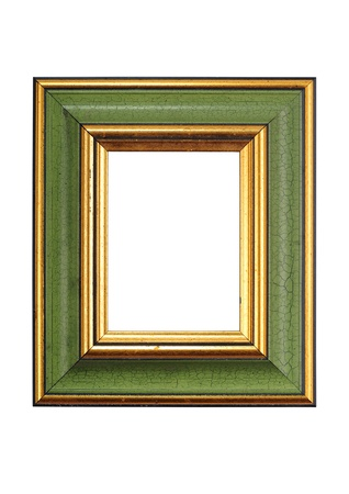 color photo: Empty Green Frame