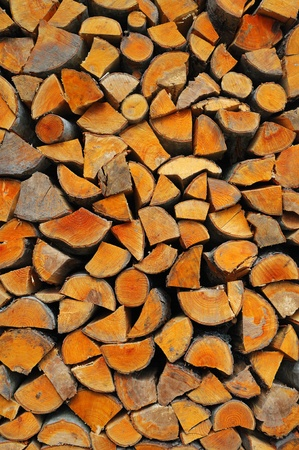 woodpile: Heap of firewoods as a background