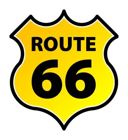 66: Route 66 sign, vector illustration Illustration