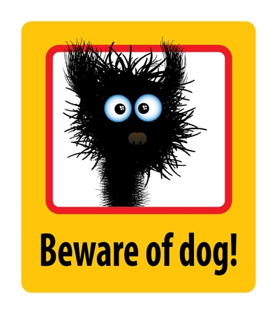 beware of dog Stock Vector - 13710340