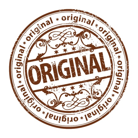 Grunge rubber stamp with the word original written inside the stamp Vector