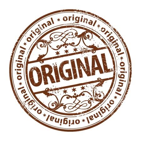 Grunge rubberen stempel met het woord oorspronkelijk geschreven in het stempel