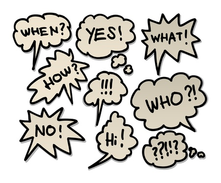 Comic book speech bubbles Stock Vector - 13753284