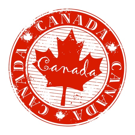 Stamp with name of Canada
