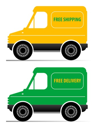 Delivery service car isolated on white background Stock Vector - 13753265