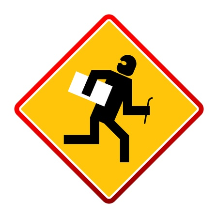 danger ahead: No thief sign, vector illustration