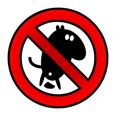No dog poop sign Vector