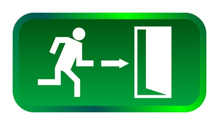 emergency light: Exit sign