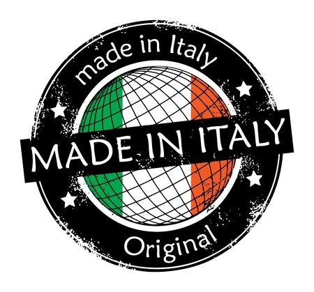 Made in Italy label Vector