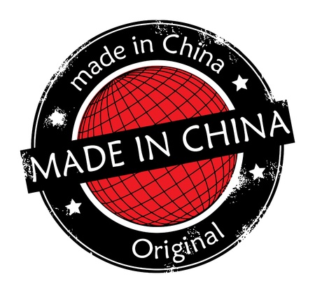 Made in China label Vector