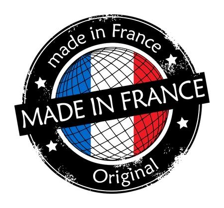 Hecho en la etiqueta de Francia Ilustración de vector