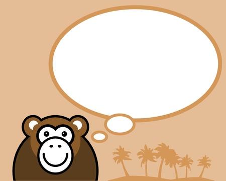 lowbrow: Scimmia divertente con fumetto