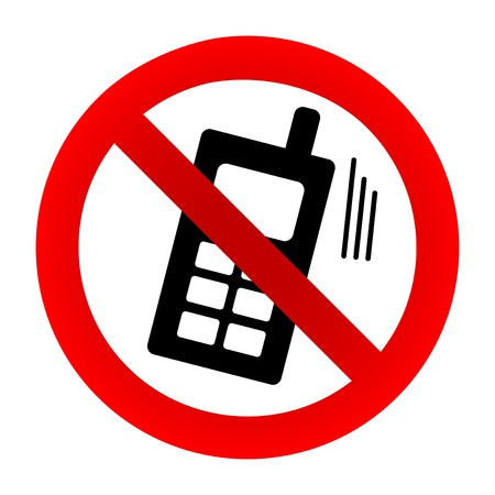 No cell phone sign Stock Vector - 13756194