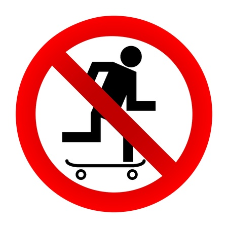 No skateboarding sign Illustration