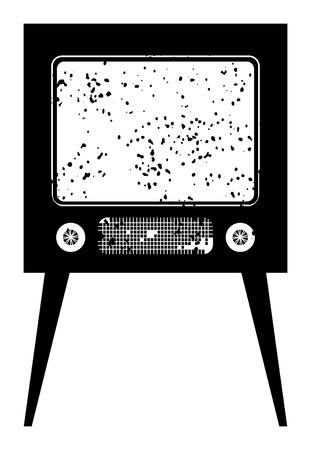 vintage television: Black retro tv Illustration