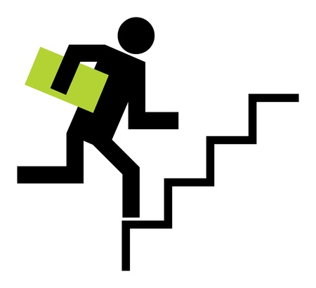 Running upstairs Vector