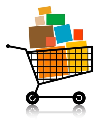 Shopping cart, full Vector