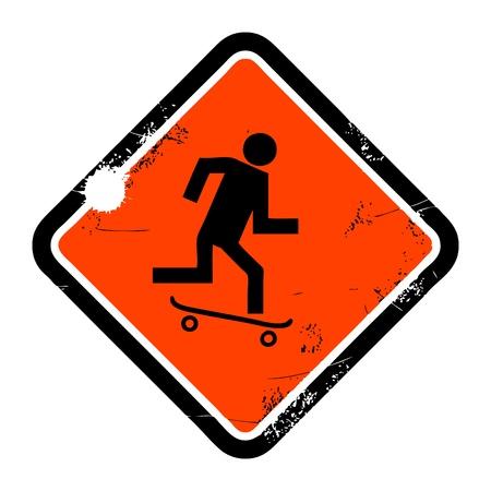 No skateboarding sign Stock Vector - 13756374