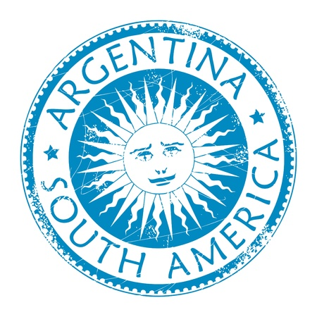 custom letters: Stamp with word Argentina, South America inside