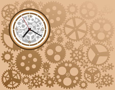 toothed: Clock gear Illustration