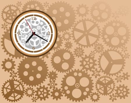 time machine: Clock gear Illustration