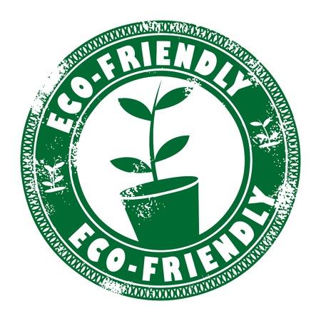 Eco friendly stamp  Illustration