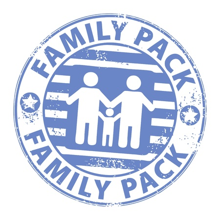 Stamp with the text Family Pack inside Stock Vector - 13766206