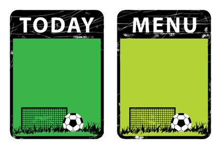 Menu board, football theme Vector