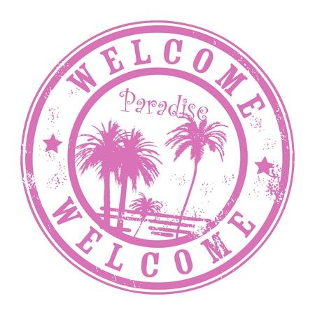 Hawaii theme stamp
