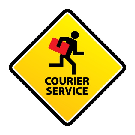 courier service: Courier service sign