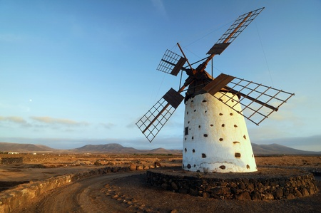 Old windmill on Fuerteventura, Canary Islands, Spain Stock Photo - 13768423
