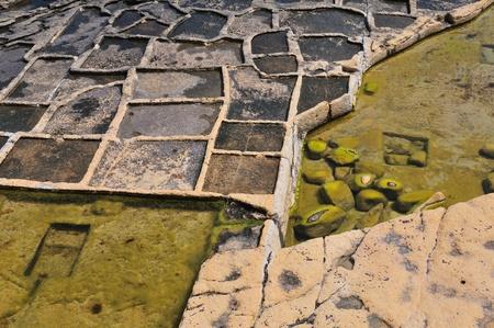 evaporation: Old salt evaporation ponds, Malta island