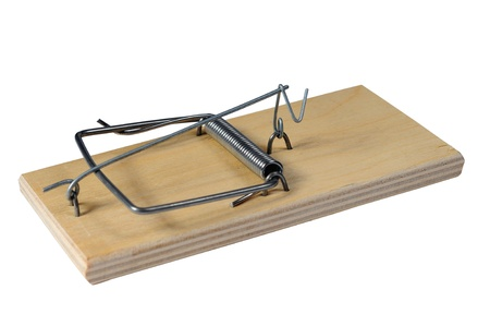 Mousetrap on a white background Stock Photo - 13783010