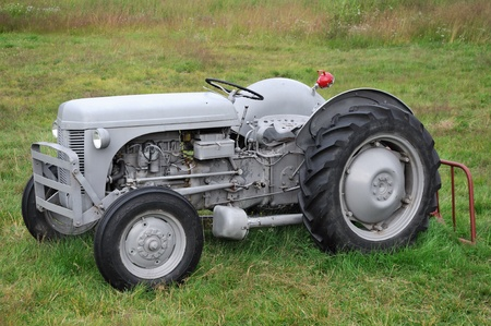 Old farm tractor photo
