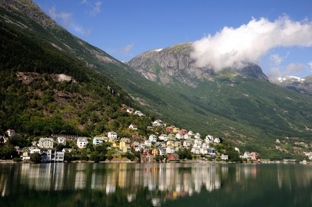 Odda harbor in Norway photo