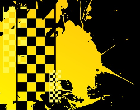 yellow cab: Abstract urban background, vector illustration