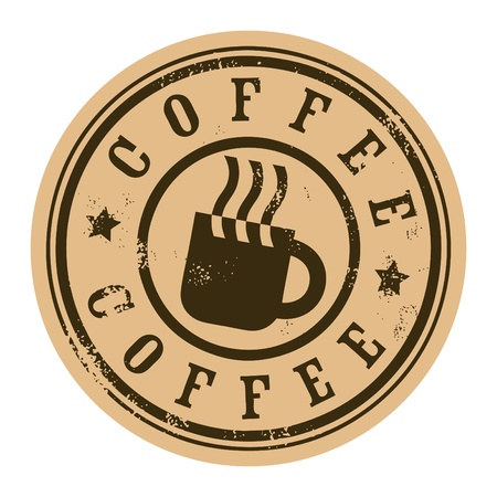 Grunge stamp with coffee cup Stock Vector - 13796159